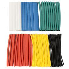 150PCS noir thermorétractables Heatshrink Câble Tube Gaine Manches Wrap Cover