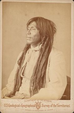 Our people grow our hair long because it gives us strength. We only cut it for ceremonious reasons. Quechan Man 1872