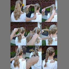 """Tutorial on how to do a pull through braid that looks really pretty! #hair #hairstyle #hairdo #hairoftheday #hotd #gorgeous #beautiful #loveit #braid…"""