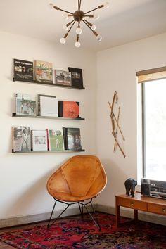 "i'd love to have a ""listening area"" in my office | Tour Kayla & Amir's Austin Home #garzamarfa #marfa"