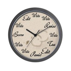 Writer's Clock Wall Clock by - CafePress Novelty Clocks, Novelty Gifts, Wall Clock Design, Clock Wall, Porch Curtains, Editing Writing, Large Clock, Face Design, Maine House