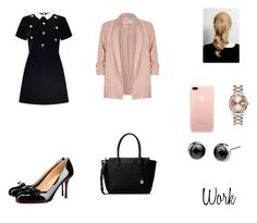 """""""Work #6"""" by itsabitah on Polyvore featuring Miss Selfridge, Christian Louboutin, River Island, MICHAEL Michael Kors and Rolex"""