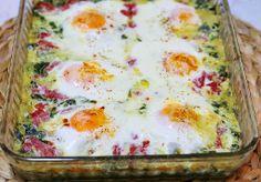Спанак с яйца и крем сирене на фурна