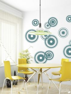 Vinyl Wall Decal, Retro Bullseyes - 12 graphics, Wallpaper, Stickers, Vinyl Wall Graphics, item 10001