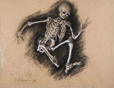 Władysław Podkowiński, Studium szkieletu, 1892