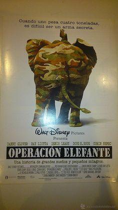 Guía publicitaria de la película: Operación elefante.  Pelicula de Walt Dysney Pictures.