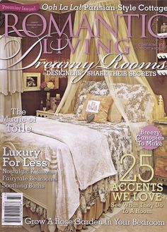 Romantic Country magazine cover.  So feminine
