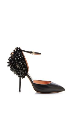 Embellished Suede and Leather Pumps by Rochas