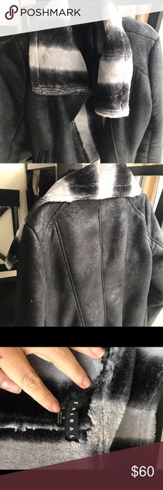 Black leather lined coat $60.00 OBO Black leather coat lined inside. Soft and kept in excellent condition. I wear a size 6 and it fits perfect. Super cute with jeans or to dress up an outfit Jackets & Coats