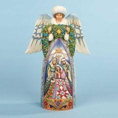 Jim Shore's Night Devine-Winter Angel With Nativity Figurine