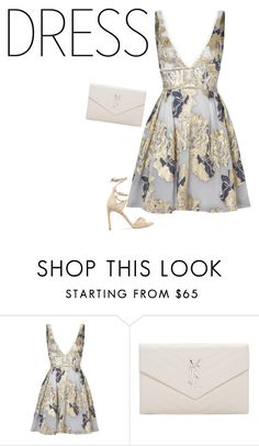 """""""Untitled #570"""" by sophiatsunis on Polyvore featuring Notte by Marchesa, Yves Saint Laurent and Stuart Weitzman"""