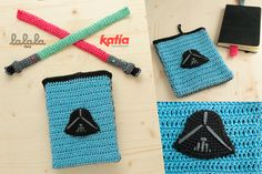 Lalala Toys agents who were guarding the secret of how to crochet some powerful bookmarks in the form of a lightsaber and crochet covers to protect any book