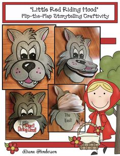 "Reading: Cute ""flip-the-flap"" booklet craftivity, helps sequence & retell the ""Little Red Riding Hood"" fairy tale."