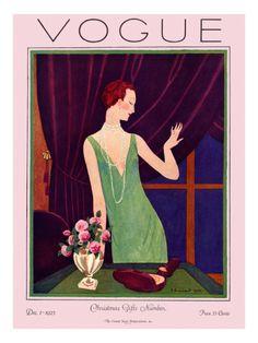 Vogue Cover - December 1925 .