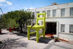 Mark Reigelman installs a Giant Nest Chair in Monterrey, Mexico
