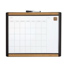 U Brands LLC MOD and Pin-It Dry Erase Monthly Magnetic Calendar Whiteboard, 1' H x 2' W & Reviews   Wayfair Supply