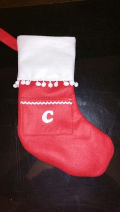 Handmade Xmas stocking personalised