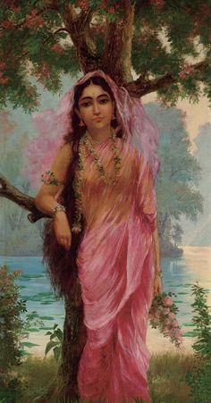 Ravivarma Paintings, Indian Art Paintings, Classic Paintings, Painting Portraits, Raja Ravi Varma, Indian Illustration, Indian Aesthetic, Indian Folk Art, Famous Art