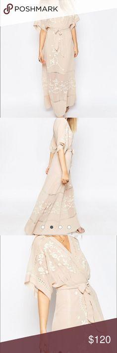 ASOS PREMIUM Embroidered Kimono Maxi Dress New with tags. Make me an offer! ASOS Dresses