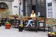Young couple sits at table outside bistro, Old Town, Montreal, Quebec, Canada Outdoor Furniture Sets, Outdoor Decor, Old Town, Montreal Quebec, Canada, Patio, Zurich, Architecture, Switzerland