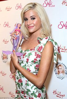 What a doll: She looked ultra-glam as she launched her own range of dolls