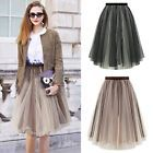 Womens Princess Sexy Tulle Tutu Skirt Wedding Prom Mini Pleated A-line Dress