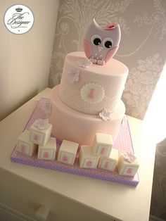 Owl 1st birthday cake