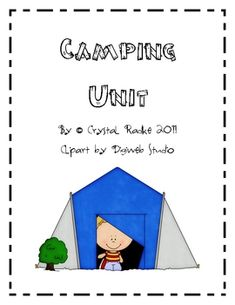 Camping Theme Literacy & Math Center Activities!  This is a complete unit for literacy and math centers. Focus on beginning sounds, ending sounds, sight words, writing, bubble chart, hot/cold science worksheet activity, short vowel long vowel, animal research, subtraction, addition, counting by tens, etc.  $