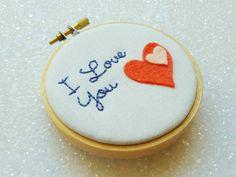 I Love You Gift | Anniversary Gift | Cotton Anniversary Gift | Mothers Day Gift | Gift For Mum | I Love You Wall Art | Hearts Decor | Love