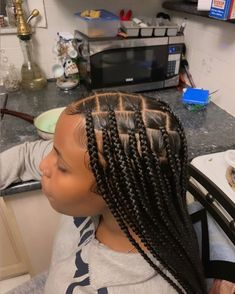 Big Box Braids Hairstyles, Braids Hairstyles Pictures, Black Girl Braided Hairstyles, Cute Natural Hairstyles, Black Girl Braids, Baddie Hairstyles, Sleek Hairstyles, Braids For Black Hair, Girls Braids