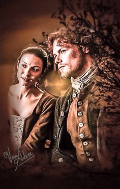 Jamie and Claire at Castle Leoch, listening to the Bard