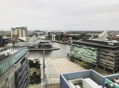 The view from my hotel room #oldtrafford #bbc #salford #manchester #greatermanchester #urban #urbanlandscape #overcast #city #england #uk #unitedkingdom #manutd #manchesterunited #manunited )