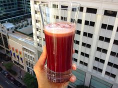 Ravishing Red Juice. This is a perfect juice for the morning – The beets go straight to the blood to do some serious cleansing work to help your body to fight off a myriad of ailments and diseases like cancer, chronic fatigue, colds, eczema, gallstones, high blood pressure, psoriasis and asthma.