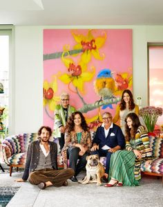 Angela Missoni's boho-luxe dream house in the hills outside Milan has become home base for a famous fashion clan rebounding from heartache.