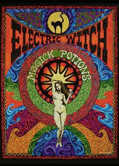 Electric Witch Magick Potions  5x7 Blank Greeting by EmilyBalivet, $5.00