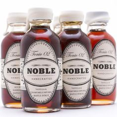 Petite NOBLE Tahitian Vanilla & Chamomile Maple Syrups. Harvested from a wild maple orchard in New Hampshire and absolutely delicious! Give to friends as stocking stuffers, gift bag extras, or as a surprise treat.
