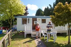 Otter Caravan - for 4 to 6 people Bronze, extra wide, 2 bedroom caravan, with 1 double and 1 twin room + double sofa bed in lounge. PLUS: balcony with outside seating. Devon Holidays, Outside Seating, Rugby World Cup, Holiday Accommodation, Exeter, Otters, Great Places, Twin Room, Places To Visit