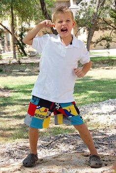 DIY Tutorial: DIY PATCHWORK / DIY Up-cycled Patchwork Shorts from Outgrown Tee's - Bead&Cord
