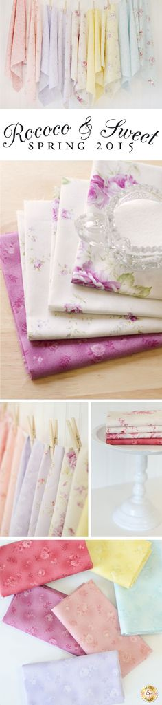 Rococo & Sweet Spring 2015 by Lecien Fabrics is a new collection available now at Shabby Fabrics.
