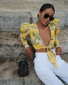 Hemant and Nandita Terra Crop Top Cute Summer Outfits, Spring Outfits, Cute Outfits, Spring Clothes, Spring Shoes, Spring Dresses, Crop Top Outfits, Casual Outfits, Fashion Outfits