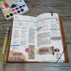 ✏ TN Week 12   Gosh, it was a very rough week … hoping this week is kinder. #loveforanalogue #mtn #travellersnotebook #planneraddictmalaysia #stationeryaddict #journal