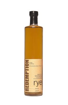 Distilled in Indiana and bottled in Bardstown, Kentucky, Redemption is a high-quality yet affordable. At 95% rye, this is an unconventional and very odd-tasting rye, shockingly sweet and filled with Christmas spice character. Minty, almost menthol on the nose. The body is lighter, and the finish is on the strange side, reminiscent of younger corn-based whiskey. Probably better as a mixer. It is shockingly sweet and filled with Christmas spice character. Minty, almost menthol on the nose.
