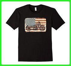 Mens Motorcycle American Flag patriotic vintage July 4th shirt XL Black - Holiday and seasonal shirts (*Amazon Partner-Link)