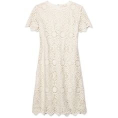 Tory Burch Trixy Dress ($595) ❤ liked on Polyvore featuring dresses, vestidos, short dresses, nude dress, lace sleeve dress, short sleeve mini dress and short lace dress