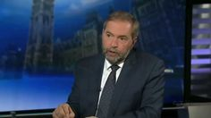 10 - 13 - The presenter of CTV National News, Lisa LaFlamme, interviews Tom Mulcair about the 2015 election campaign and what he might do in a minority government situation.