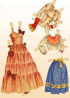 june allyson paper doll | 1950 June Allyson paper doll clothes #9 / eBay