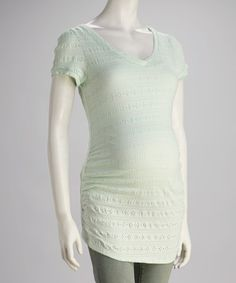 Take a look at this Mint Maternity V-Neck Tunic by Cant Wait Maternity on #zulily today! $21.99, regular 37.00