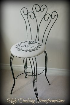Frenchy Wrought Iron Chair by Ugly Duckling Transformations