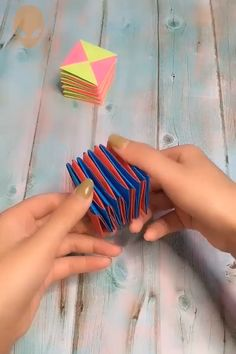 Origami DIY 😍 Here's super funny idea for DIY project! Diy Crafts Hacks, Diy Crafts For Gifts, Diy Home Crafts, Diy Arts And Crafts, Creative Crafts, Paper Crafts Origami, Paper Crafts For Kids, Diy For Kids, Instruções Origami
