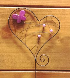 Zápich srdce- růžové